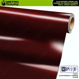 KPMF K75447 Gloss Midnight Crimson Bloom vehicle wrapping film