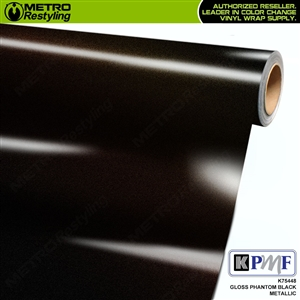 KPMF K75448 Gloss Phantom Black Metallic car wrap film