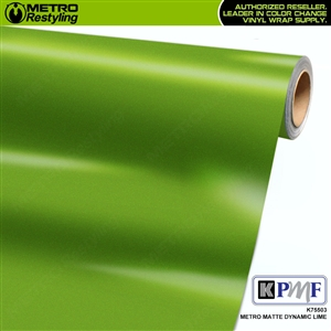 KPMF K75503 Metro Matte Dynamic Lime vinyl car wrapping film.