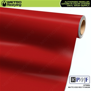 KPMF K75506 Matte Iced Red Titanium vinyl car wrapping film.