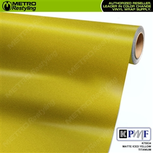 KPMF K75534 Matte Iced Yellow Titanium vinyl car wrapping film.