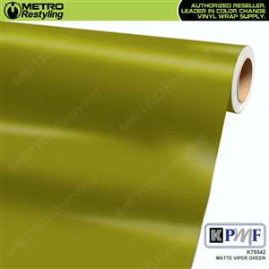 KPMF K75542 Matte Viper Green vinyl car wrapping film.
