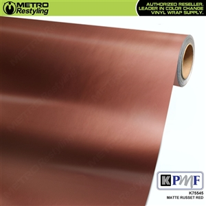 KPMF K75545 Matte Russet Red vinyl car wrapping film.