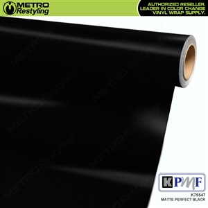 KPMF K75547 Matte Perfect Black vinyl car wrapping film.