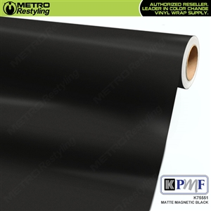 KPMF K75551 Matte Magnetic Black vinyl car wrapping film.
