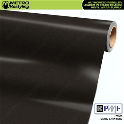 KPMF K75553 Satin Metro Nero vehicle wrapping film