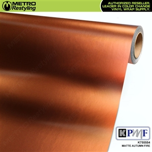 KPMF K75554 Matte Autumn Fire vinyl car wrapping film.
