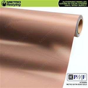 KPMF Metro Satin Rose Gold car wrap film exclusively at MetroRestyling