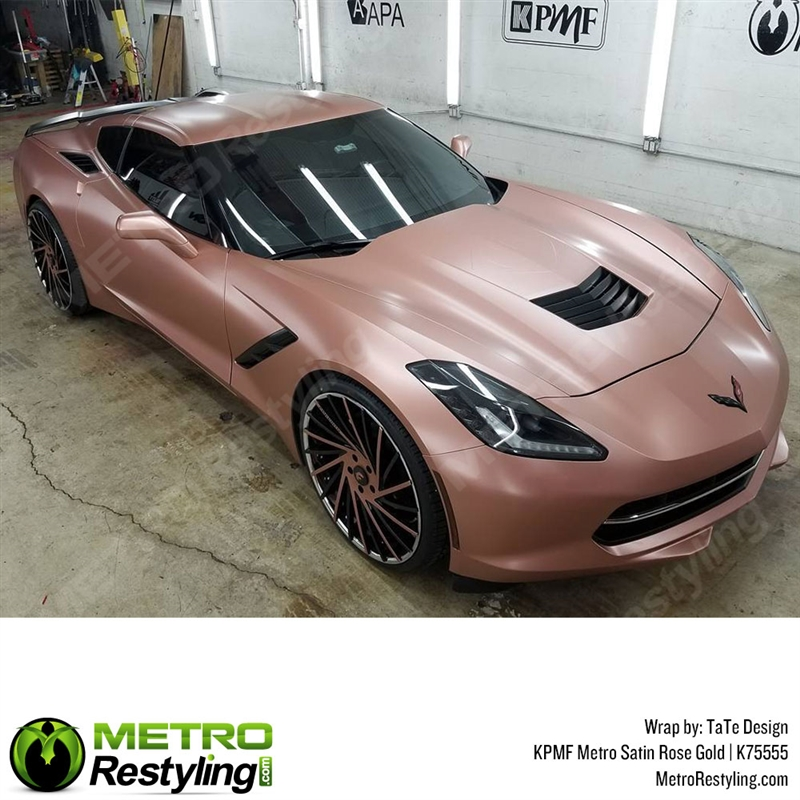 Chrome Car Wrap >> KPMF K75555 Series Metro Satin Rose gold vinyl wrap is a beautiful satin color that quickly ...