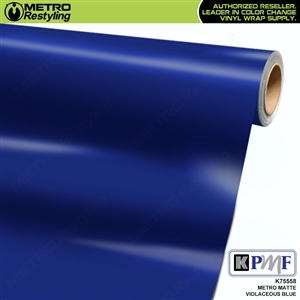 KPMF K75558 Matte Metro Violaceous Blue vehicle wrapping film