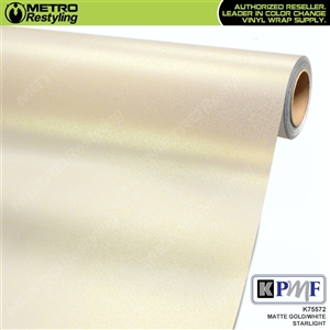 KPMF K75572 Matte Gold White Starlight Iridescent automotive wrapping film