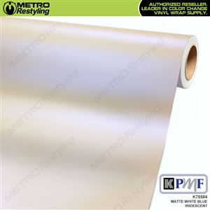 KPMF K75584 Matte White Blue Pealescent automotive wrapping film