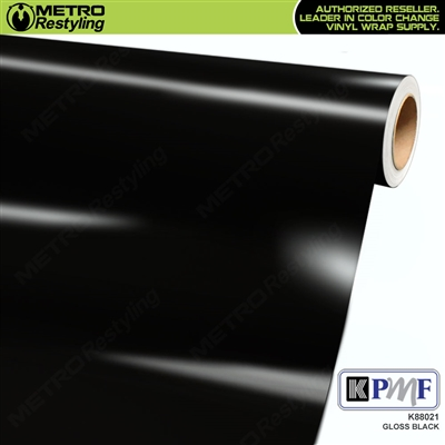 KPMF K88021 Gloss Black vinyl vehicle wrap film