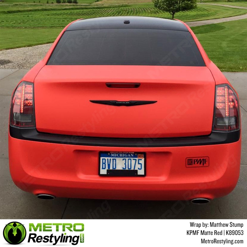 Kpmf K89053 Matte Red Vinyl Car Wrap Creates Special Effects For An