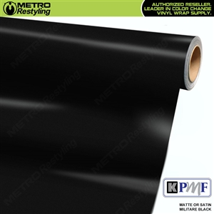 KPMF Matte / Satin Militare Black vinyl car wrapping film.