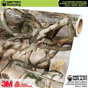 Lifeless Woods Buck Skull Camouflage Car Wrap Vinyl
