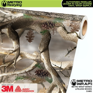 Lifeless Woods Camouflage Vinyl Car Wrap