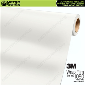 3M 1080 M10 Matte White vinyl vehicle wrap film
