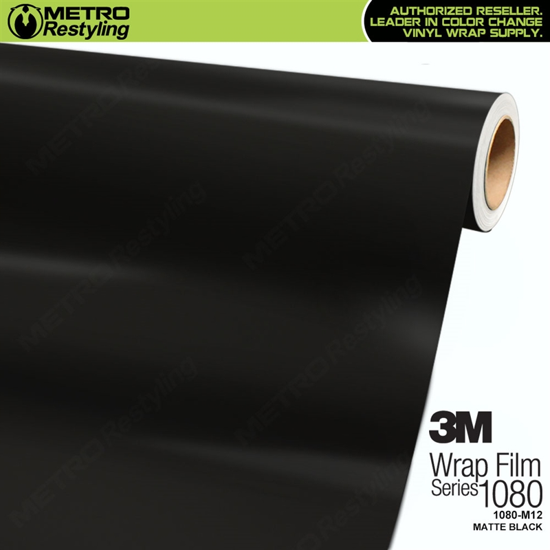 3M Scotchprint Series 1080 M12 Matte Black Vinyl Wrap