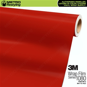 3M 1080 M13 Matte Red vinyl vehicle wrap film