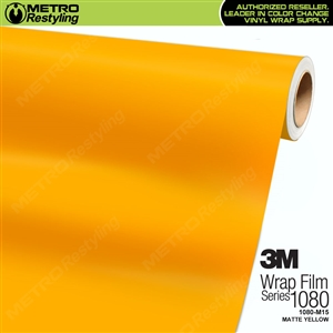 3M 1080 M15 Matte Yellow vinyl vehicle wrap film