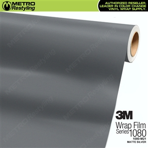 3M 1080 M21 Matte Silver vinyl vehicle wrap film