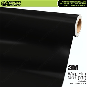 3M 1080 M22 Matte Deep Black vinyl vehicle wrap film