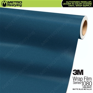 3M 1080 M227 Scotchprint Matte Blue Metallic Vinyl Wrapping Film