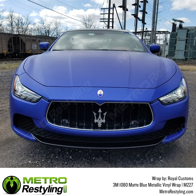 3M Scotchprint Series 1080 M227 Matte Blue Metallic Vinyl Wrap