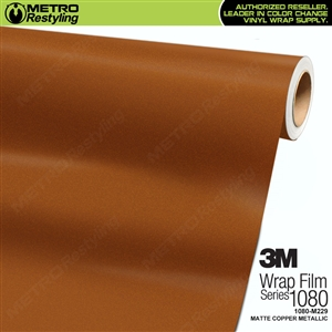 3M 1080 M229 Scotchprint Matte Copper Metallic Vinyl Wrap