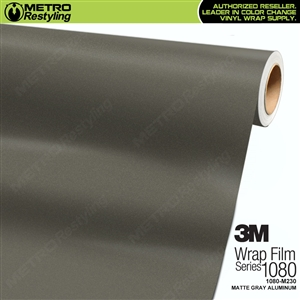 3M 1080 M230 Matte Gray Aluminum vinyl vehicle wrap film