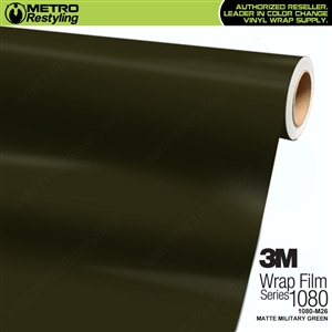 3M 1080 M26 Matte Military Green vinyl vehicle wrap film