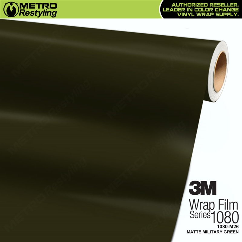 3m 1080 M26 Matte Military Green Car Wrap Vinyl Is An