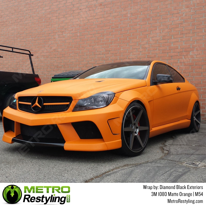 3m Scotchprint Series 1080 M54 Matte Orange Vinyl Wrap