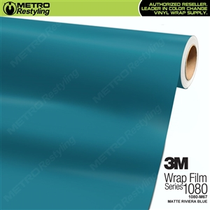 3M 1080 M67 Matte Riviera Blue vinyl vehicle wrap film