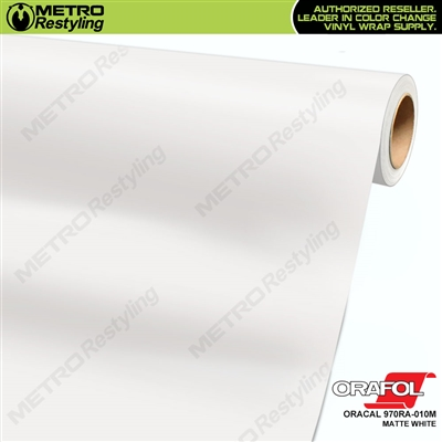 ORACAL Series 970RA Matte White Vinyl Wrap Film W/Rapid Air