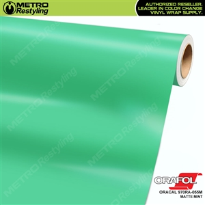 ORACAL Series 970RA Matte Mint Vinyl Wrap Film W/Rapid Air