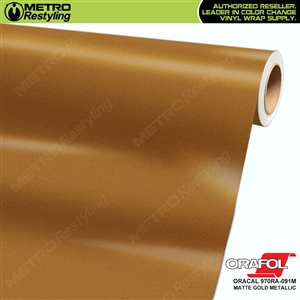 ORACAL Series 970RA Matte Gold Metallic Vinyl Wrap Film W/Rapid Air