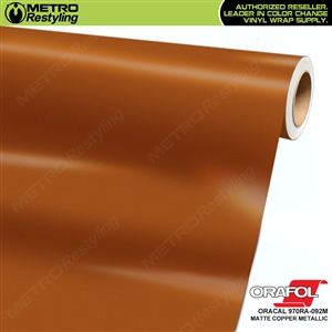 ORACAL Series 970RA Matte Copper Vinyl Wrap Film W/Rapid Air
