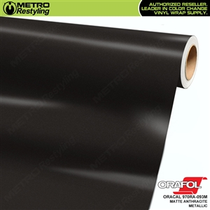 ORACAL Series 970RA Matte Anthracite Metallic Vinyl Wrap Film W/Rapid Air