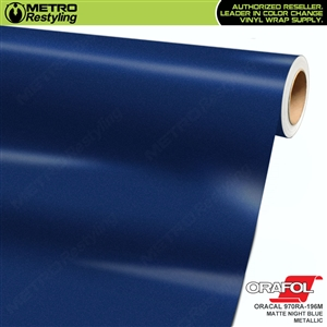 ORACAL 970RA-196M Matte Night Blue Metallic Premium Vinyl Auto Wrap