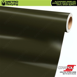 ORACAL Series 970RA Matte Nato Olive Vinyl Wrap Film W/Rapid Air