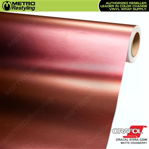 ORACAL Series 970RA-320M Matte Cranberry Premium Shift Effect Vinyl Car Wrap