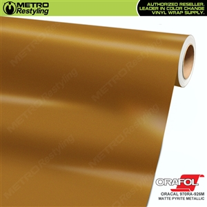ORACAL Series 970RA Matte Pyrite Metallic Vinyl Wrap Film W/Rapid Air