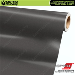 ORACAL 970RA-932M Matte Graphite Metallic Premium Vinyl Auto Wrap