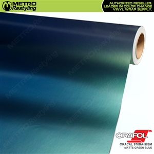 ORACAL Series 970RA-988M Matte Green Blue Premium Shift Effect Vinyl Car Wrap