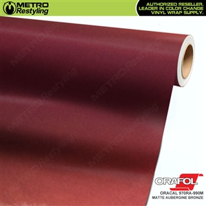 ORACAL Series 970RA-990M Matte Aubergine Bronze Premium Shift Effect Vinyl Car Wrap