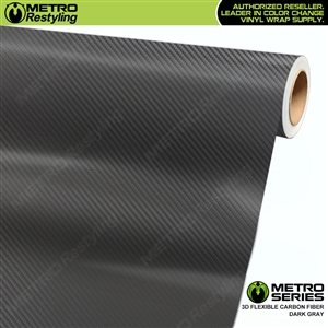 Dark Grey Metro 3D Flexible Carbon Fiber Vinyl Wrap