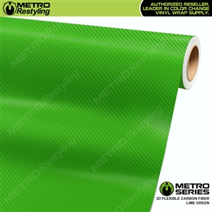 Lime Green Metro 3D Flexible Carbon Fiber Vinyl Wrap