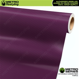Purple Metro 3D Flexible Carbon Fiber Vinyl Wrap